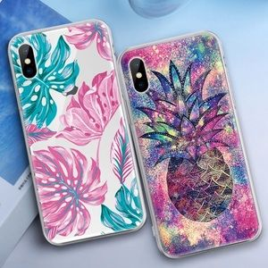 Accessories - Cosmic Pineapple🍍or Colorful leaf case🍃🌿